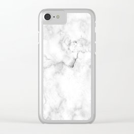 Marble pattern on white background Clear iPhone Case