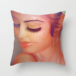 Oh Krystal Throw Pillow