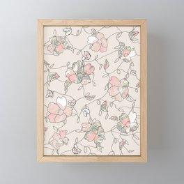Vines of Flowers Framed Mini Art Print