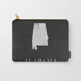 Alabama State Map Chalk Drawing Carry-All Pouch