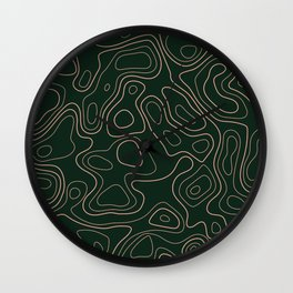 Green- Topographic map Wall Clock