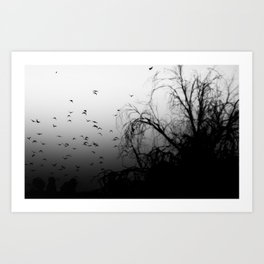 Into The Darkness 3 Art Print