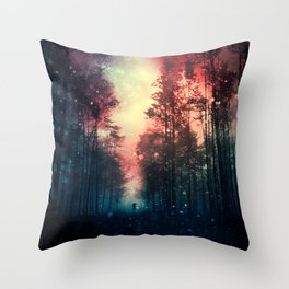 Magical Forest II Throw Pillow
