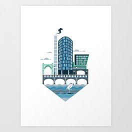The Riverside Quarter Art Print