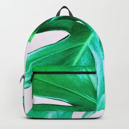 Cheese Plant Leaves Backpack