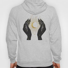 Gold La Lune In Hands Hoody