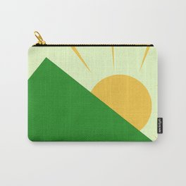 Minimalist Sunrise Over Mountain Carry-All Pouch