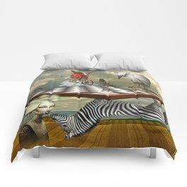 Zebra Upside Down Comforters