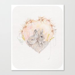 Prickly heart Canvas Print