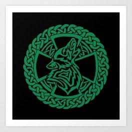 Celtic Wolf Art Print