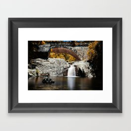 Little Crystal Creek Bridge Framed Art Print