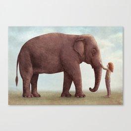 One Amazing Elephant - Back Cover Art Canvas Print