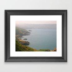 White Rock Bay Framed Art Print