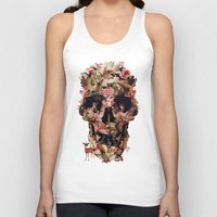 skull Tank Tops featuring Jungle Skull by Ali GULEC