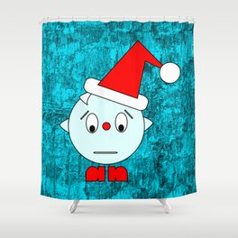 Funny Emotionless Head Shower Curtain