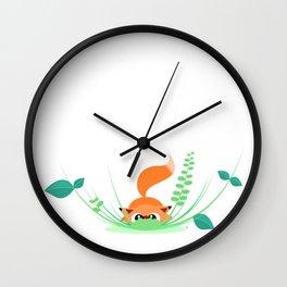 Little Fox and Miss Ladybug Wall Clock