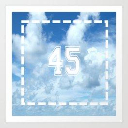 45 Clouds Jersey Art Print