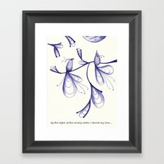 By the Light, of the Silvery Moon Framed Art Print