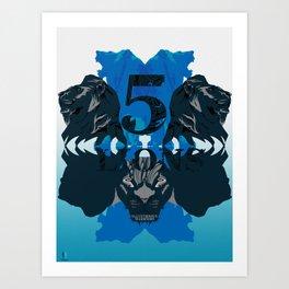 Five Lions Art Print