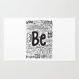 Lab No. 4 - Inspirational Positive Quotes Poster Rug