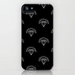 Diamonds - White iPhone Case