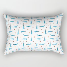 Tiny wolves Rectangular Pillow