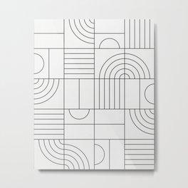 My Favorite Geometric Patterns No.19 - White Metal Print