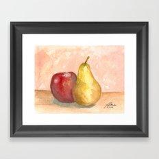 A Fruity Pair Framed Art Print