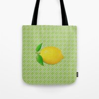 lemon Tote Bags featuring Lemon by Mr and Mrs Quirynen