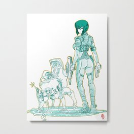 Ghost in the Shell 01 Metal Print
