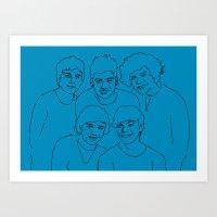 1d Art Prints featuring 1D by Rebecca Bear