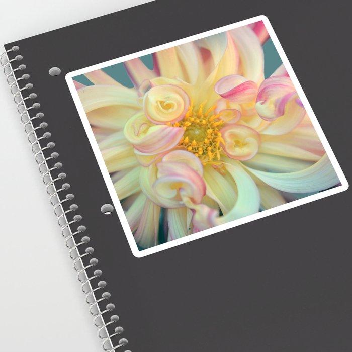 Yellow Dahlia Flower Bloom Sticker