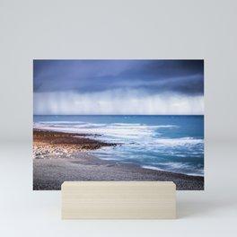 Rain at Sea Mini Art Print