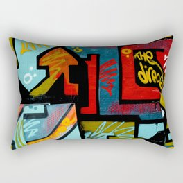 Color spray Graffiti Rectangular Pillow