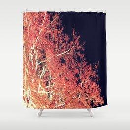 Inverted Tree Dark Night Shower Curtain