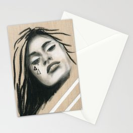 Beach Tribe six - Gypsy Soul Searching Woman Stationery Cards