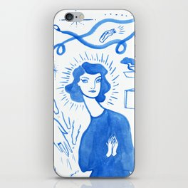 Blue Charms iPhone Skin