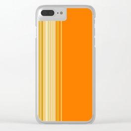 Retro Color Stripe Decor Clear iPhone Case
