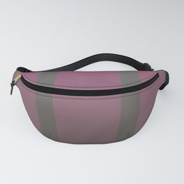 Pink gradient stripes on a cool taupe background  Fanny Pack