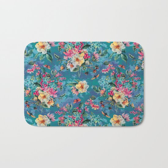 Floral Ocean III Bath Mat