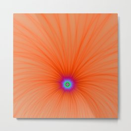 Tangerine Color Explosion Metal Print