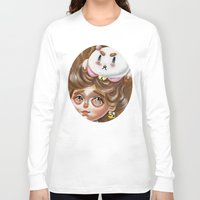 bee and puppycat Long Sleeve T-shirts featuring A Bee and her PuppyCat by Kristin Frenzel