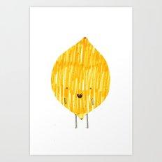 EAT YOUR FRUIT! // LEMON Art Print