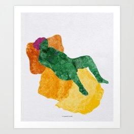 La Nymphe Couchée Art Print
