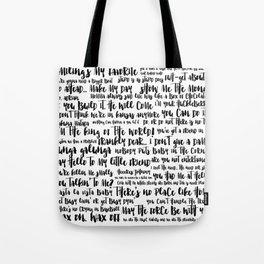 movie quotes Tote Bag