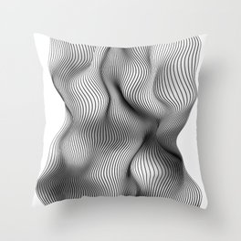 Life is not a straight line Throw Pillow