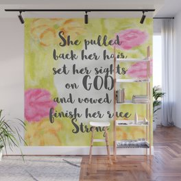 She Pulled Back Her Hair (Flowers) Wall Mural