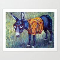 One Hip Donkey Art Print