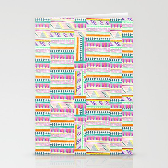 multicoloured AZTEC + Stationery Cards