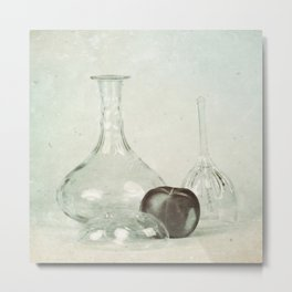 Glass still life Metal Print
